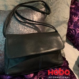 Hobo International black genuine leather crossbody